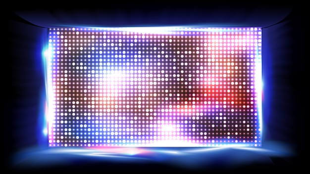 Светодиодный экран на сцене стадиона