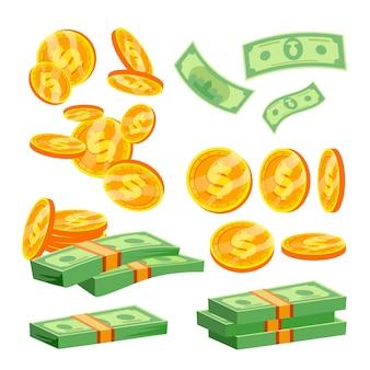 Пакеты с банкнотами