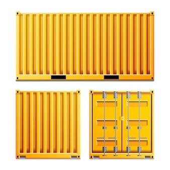 黄色の貨物コンテナー
