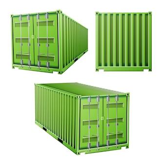 Зеленый грузовой контейнер