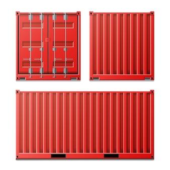 Красный грузовой контейнер