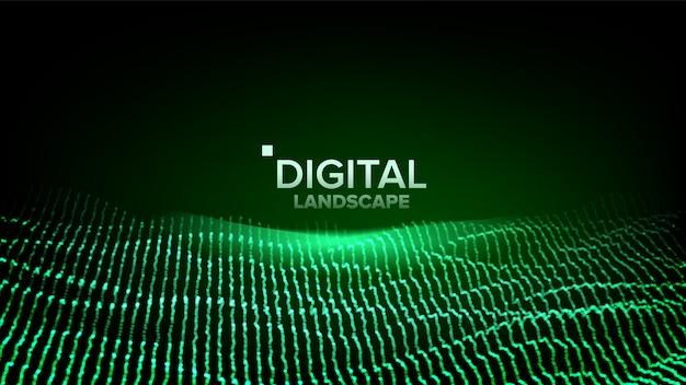 Цифровой зеленый пейзаж