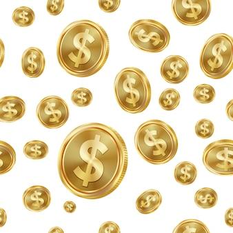 ドルのシームレスパターン。