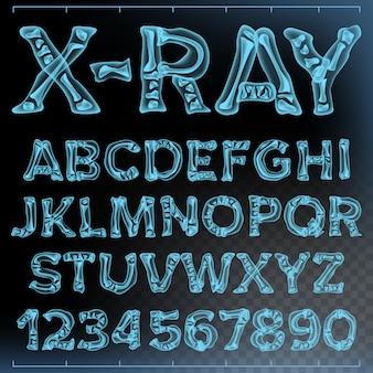 Рентгеновский шрифт вектор