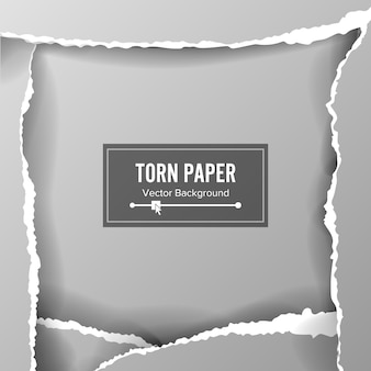 破れた紙の空白の背景