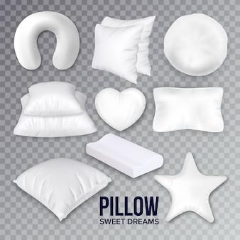 Подушки для сна в наборе разной формы