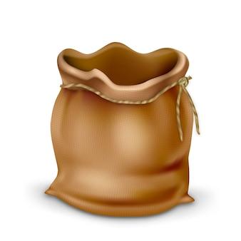 Пустой винтажный тканевый кошелек для монет
