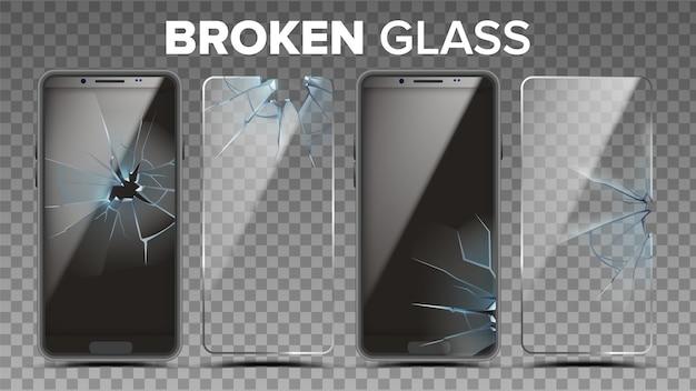 割れたガラス電話スクリーンプロテクターセット