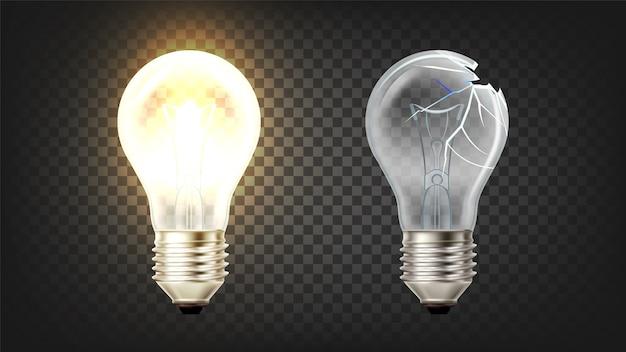 白熱電球の白熱と破損