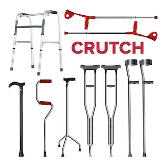 松葉杖と杖コレクションセット