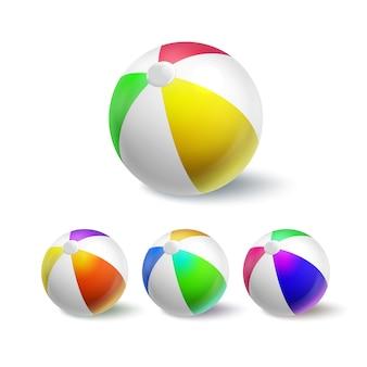 プールセットで遊ぶための膨脹可能な球
