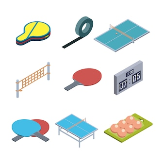 卓球ゲーム機器コレクションセット