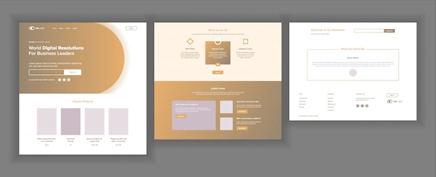 ウェブサイトのデザインテンプレート