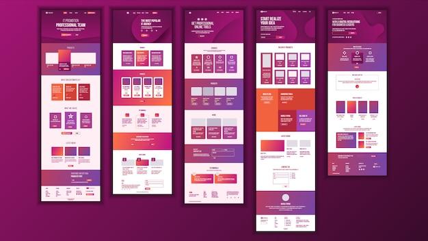 Дизайн главной веб-страницы