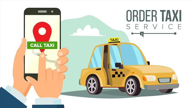 モバイルアプリでタクシーを予約する