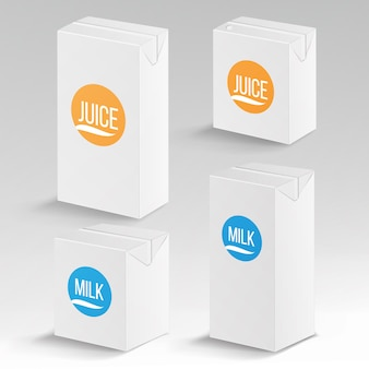 Пакет сока и молока