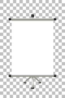透明の空白の画面を持つ金属バナースタンド