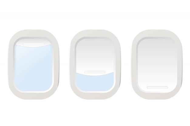 飛行機の照明を設定します。ベクトルイラスト