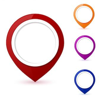 Набор указателей круглой карты