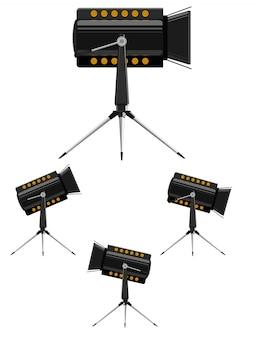 Векторные изображения прожекторов