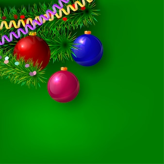 Зеленый новогодний фон