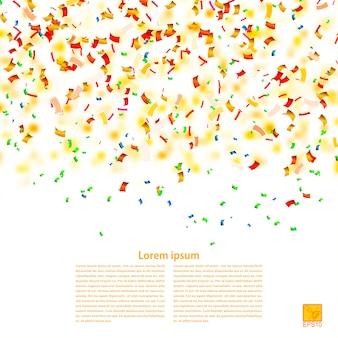 紙吹雪のベクトルの背景。