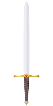 Векторная иллюстрация меч украшен драгоценными камнями