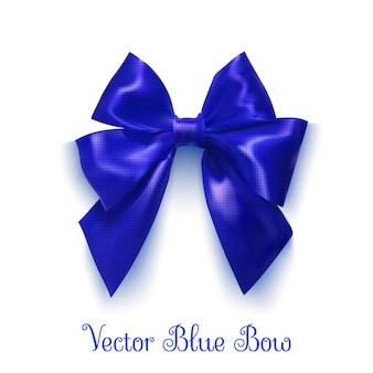 リアルな青い弓デザイン用オブジェクトベクトルイラスト