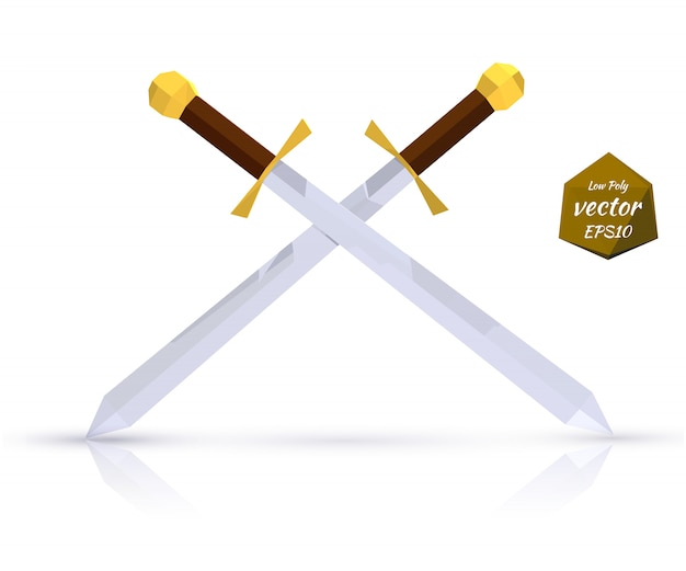 Два меча с отражением