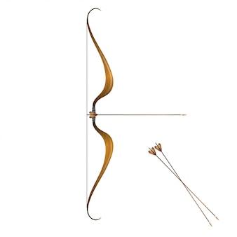 Старинный лук и стрелы
