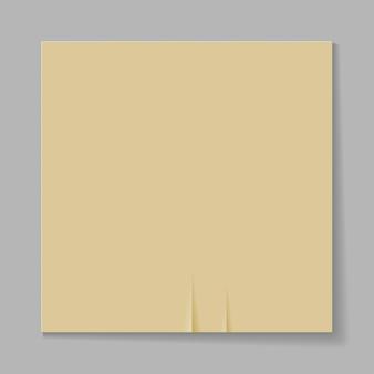 灰色の背景に紙のシートのイラスト