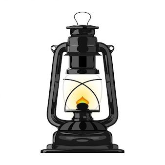 古い灯油ランプ。