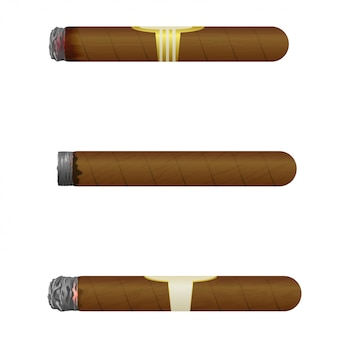 キューバの葉巻のセット。