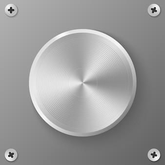 丸い金属ボタン