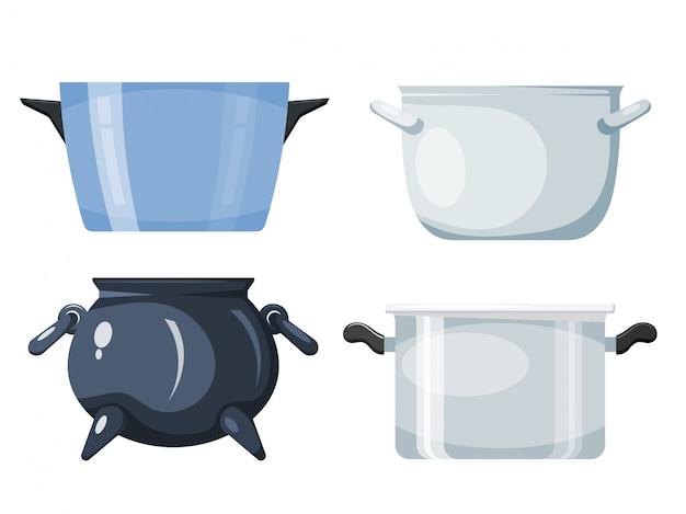 Набор кухонной кастрюли, кухонных принадлежностей