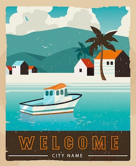 休暇カードのデザイン