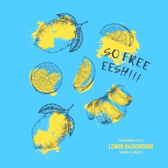Лимоны летний прин