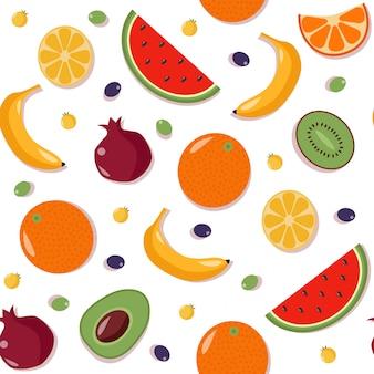 フルーツのシームレスパターン