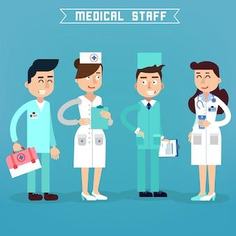 医療スタッフ。看護師とドクター。病院医療チーム健康管理。医学の専門家。医療コンセプト