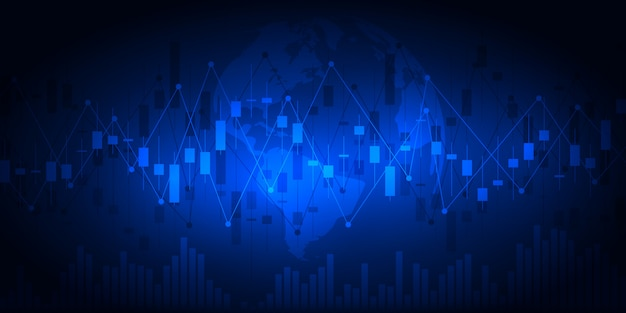 ビジネスと金融の概念の株価グラフまたは外国為替取引チャート