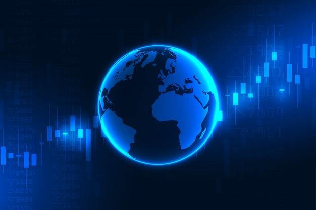 株式市場のグラフまたはビジネスと金融の概念の外国為替取引チャート