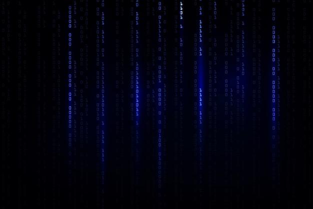 Фон абстрактный технологии. концепция хакера, программирование, двоичный компьютерный код. матричный фоновый стиль.