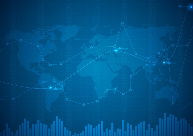 株式グラフ市場と財務チャート