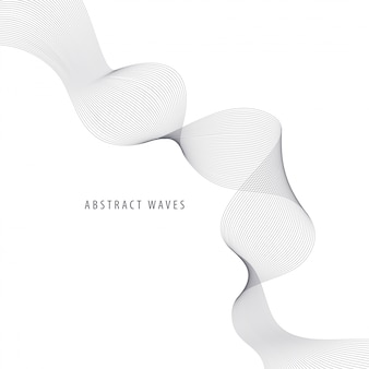 設計のための抽象的な波の要素。