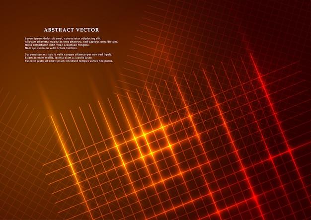 Абстрактный фон в современном стиле светящейся сетки