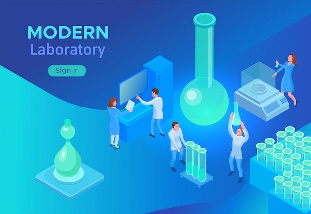 Изометрическая лабораторная концепция