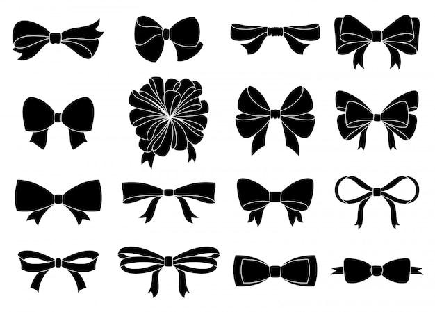 あなたのデザインのための装飾的な弓のセット。