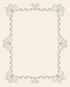 Винтажные украшения поздравительной открытки вектор шаблон.