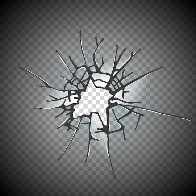 Разбитое оконное стекло