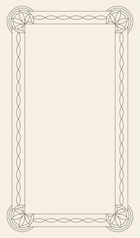 Ретро люкс приглашение, королевский сертификат